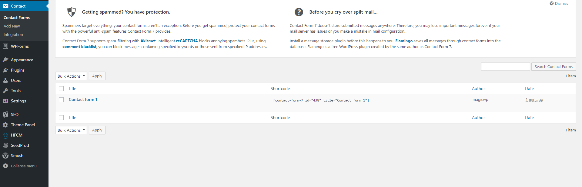 How to add a contact form to the website