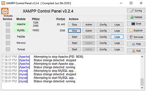 Configure XAMPP On Windows 10.