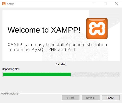 Install, configure XAMPP on Windows 10