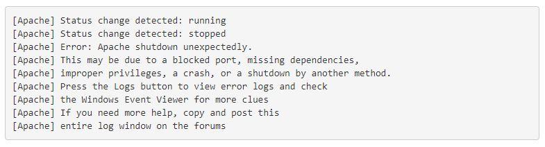 fix a Blocked Port in XAMPP